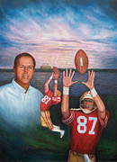 49ers Painting Prints - The Catch Print by Dominic Giglio