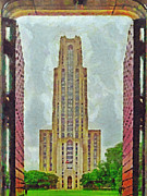 Pittsburgh Digital Art Framed Prints - The Cathedral of Learning 2 Framed Print by Digital Photographic Arts