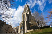 Honus Wagner Posters - The Cathedral of Learning 2g Poster by Jimmy Taaffe