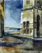 Portal Painting Framed Prints - The Cathedral of Trani in Italy Framed Print by Anna Lobovikov-Katz