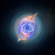 Galactic Digital Art - The Cats Eye Nebula by Nicholas Burningham