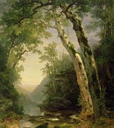 Mountainous Paintings - The Catskills by Asher Brown Durand