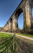 River Dee Framed Prints - The Cefn Mawr Viaduct Framed Print by Adrian Evans