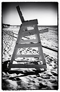 Monotone Prints - The Chair at LBI Print by John Rizzuto