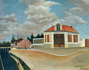 Suburbs Paintings - The Chair Factory at Alfortville by Henri Rousseau