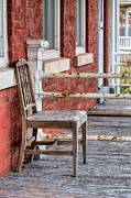 Front Porch Prints - The Chair  Print by JC Findley