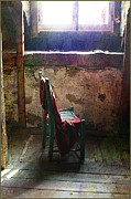 Interior Still Life Mixed Media Metal Prints - The chair Metal Print by Julika Winkler