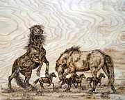Animals Pyrography - The Challenge by Melissa Fuller