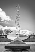The Challenger Memorial 2 - Bayfront Park - Miami - Black And White Print by Ian Monk