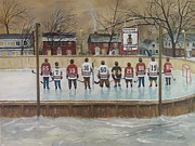 Hockey Player Painting Originals - The Champs - 2013 Stanley Cup  by Ron  Genest