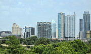 Austin Downtown Prints - The Changing Skyline of Austin in Texas Print by Linda Phelps