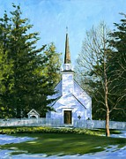 Artist Michael Swanson Prints - The Chapel of the Mohawks Print by Michael Swanson