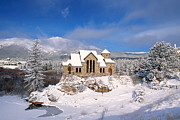 Winter Storm Framed Prints - The Chapel on the Rock 3 Framed Print by Eric Glaser