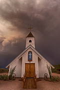 Southwest Landscape Metal Prints - The Chapel  Metal Print by Saija  Lehtonen