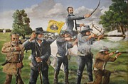 Bob Hallmark Prints - The Charge at San Jacinto Print by Bob Hallmark