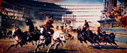 Byzantine Digital Art Metal Prints - The Chariot Race 1882 Metal Print by Li   van Saathoff