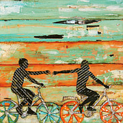 Bicycle Collage Prints - The Chase Print by Danny Phillips
