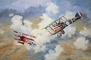 Ww1 Paintings - The chase is on by Colin Parker