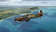 Spitfire Painting Prints - The Chase Print by Steven Heyen
