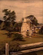 White House Mixed Media - The Chatham Windmill Cape Cod MA by Diane Strain