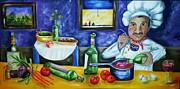 Diana Haronis Prints - The Chef Print by Diana Haronis