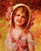 Victorian Digital Art - The Cherry Bonnet by Emile Vernon