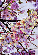 Cherry Blossoms Paintings - The Cherry Branch by Morgan  Ralston