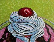 Ice-cream Paintings - The Cherry on Top by Tilly Strauss