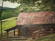 Old Barn Paintings - The Cherrys Barn by Jan Dappen