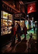 Bobby Knight Prints - The Chess Forum Print by Lee Dos Santos
