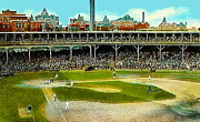 Chicago Cubs Stadium Paintings - The Chicago Cubs West Side Grounds Stadium In 1913 by Dwight Goss