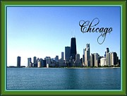 Chicago Photography Mixed Media Posters - The Chicago Skyline Poster by Skyler Tipton