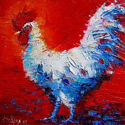 Cocks Acrylic Prints - The Chicken Of Bresse Acrylic Print by EMONA Art