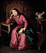 Famous Artists - The Child Virgin Asleep by Francisco de Zurbaran