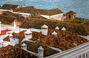 Roofline Prints - The Chimney Pots Of Faro Print by Nigel Hamer