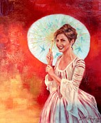 Revolutionary War Painting Originals - The Chinese parasol by Jeff Prechtel