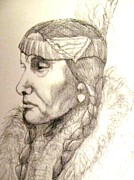 All American Drawings - The Chippewa Maiden by Heather Latchford