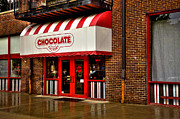 Red Doors Prints - The Chocolate Factory Print by David Patterson