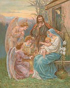 Christmas Cards Prints - The Christ Child Print by English School