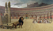 Arena Painting Prints - The Christian Martyrs Last Prayer Print by Jean Leon Gerome