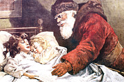 Santa Clause Prints - The Christmas Letter Print by Frank Leslie