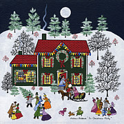 Moonlit Night Prints - The Christmas Party Print by Medana Gabbard