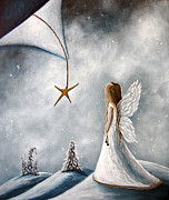 Cherub Framed Prints - The Christmas Star by Shawna Erback Framed Print by Shawna Erback