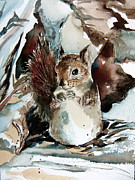 Chipmunk Art Framed Prints - The Christmas Sweet Framed Print by Mindy Newman
