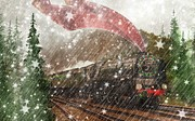 Shannon Story Posters - The Christmas Train Poster by Shannon Story