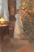 Decorating Art - The Christmas Tree by Alexei Mikhailovich Korin