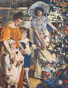 Songs Paintings - The Christmas Tree by Elizabeth Adela Stanhope Forbes