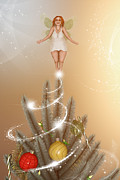 Fairies Art - The Christmas Tree Fairy by Liam Liberty