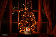 Christmas Holiday Scenery Art - The Christmas Tree by Kay Novy