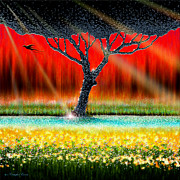 Cristopher Ernest Prints - The Chrome Tree Print by Cristophers Dream Artistry